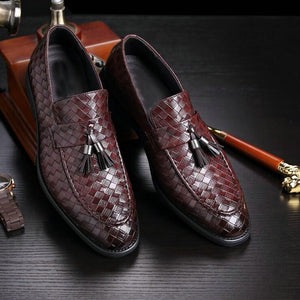 2019 New luxury brand fashion Men tassel loafers shoes leather italian formal dress office footwear oxford shoes for men C1-69