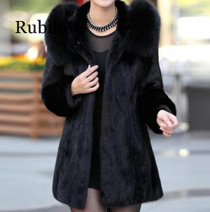 Top 2019 Top Women's Winter Mink Fur Faux Fur Coat Long Plus Size  Femme Jackets  Artificial Fur Fake Fur Outwear