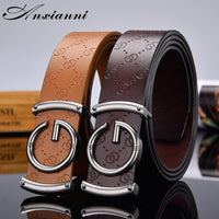 Designer high quality g Letter Belt for Men and Women Smooth Buckle Strap Genuine Real Leather fashion  Belt