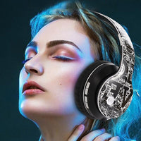Bluetooth 5.0 Wireless Stereo Music Headphone Foldable Noise Cancelling Microphone Heavy Bass Sports Headset Support TF Card AUX