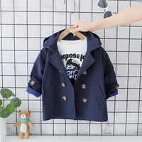 HYLKIDHUOSE 2019 Autumn Baby Boys Coats Toddler Infant Coats Gentleman Style Double-breasted Windbreaker Children Casual Jackets