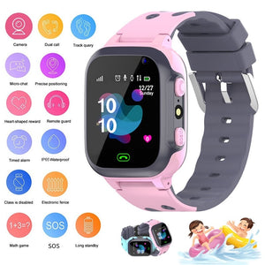 2019 New Kids Smart watch for Children SmartWatch Baby Watches SOS Call Location Finder Locator Tracker Anti Lost Monitor+Box