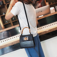 Crocodile Women Handbag Top Handle Bags Designer Lock Crossbody Shoulder Bag Small Flap Bag Purse Bolso Femenino Za Sac A Main