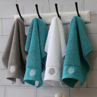 33x33cm 100%Cotton Strong Absorbency Thicken Embroidered Top 5 Star Hotel Bathroom Towel