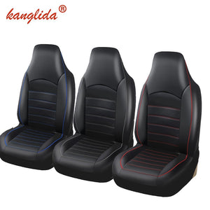 KANGLIDA  2PCS Front Pu Leather Car Seat Covers Fashion Style High Back Bucket Auto Interior Car Seat Protector For toyota