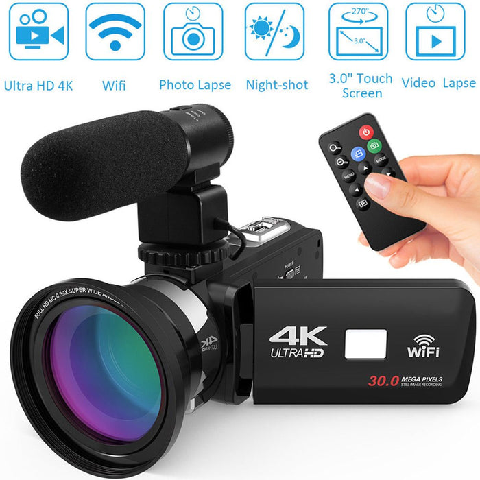 HDV4K HD digital camera night vision 30MP DV WIFI touch screen infrared fill light Camcorder