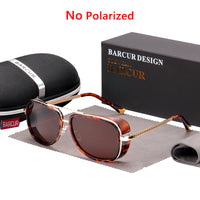 Tortoise Sunglasses IRON MAN 3 Matsuda TONY Steampunk Sunglasses Men Mirrored Brown Gradient Sunglasses FASHION
