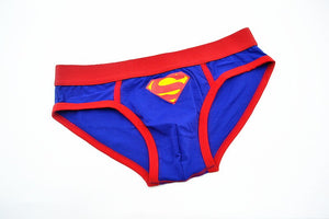 Superman gay sexy men underwear cartoon jockstrap Underpants slip man cotton mens bikini briefs superhero men's underpants
