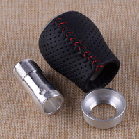 CITALL Auto Universal Red Silver 5 Speed Metal Car Manual Transmission Gear Shift Knob Shifter Lever Stick Knob Head Ball