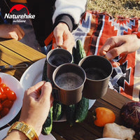 Naturehike Outdoor Camping Cookware Titanium Cup Bowl Folding Bowl Pure Titanium Cooking Portable Ultralight Cup Bowl Picnic