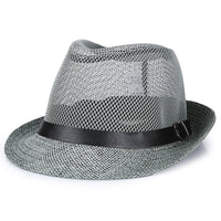 Summer hat for the middle-aged man's gift hat father's sunscreen flax straw hat cold hat grandfather's outdoor net hat