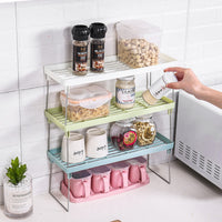 Kitchen Racks Seasoning Storage Rack Floor Plastic Finishing Rack Spice Seasoning Shelf