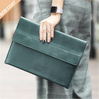 Leather laptop Sleeve Case for apple Macbook Air 13.3 Pro 15 Retina 11 12 13 14 15.6 inch bag for macbook pro 16 case a2141