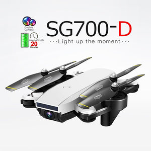 SG700-D RC Drone Quadrocopter Dual Camera 4K WiFi FPV Helicopter Smart Fllow Foldable Quadcopter Optical Flow Positioning Drone
