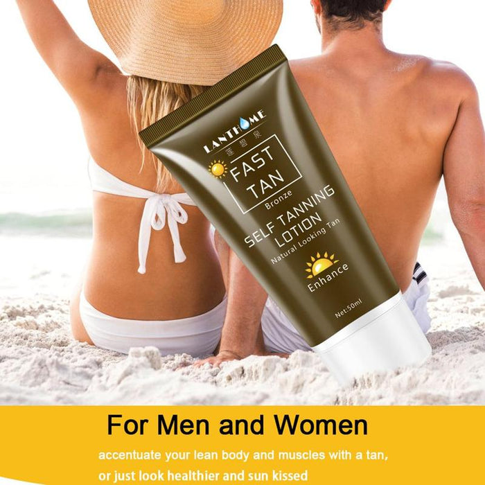 50ml Sun Tan Oil Self Tanner Solarium Cream Tanning Salon Bronzer for The Body Sunblock Makeup Foundation Fast Tanner Lotion