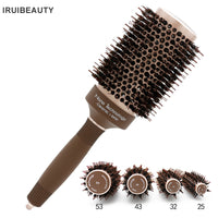 Brown Color Aluminum Round Brush Hairdresser New Professional Comb For Curly Hair Styling Brushes Hair Tools Salon