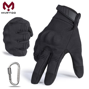 Touch Screen Motocross Gloves Motorcycle Cycling Moto Motorbike Protective Gear Biker Hard Knuckle Full Finger Glove Black Men