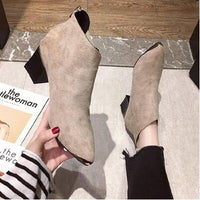 Boots Women Shoes Woman Boots Fashion High-heeled Pointed Ankle Boots Winter Boots