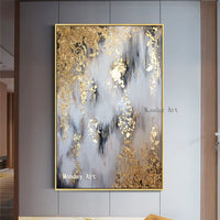 Hand painted Modern Abstract canvas Oil Paintings Abstract gold Oil Painting picture Living Room home Decoration wall paintings