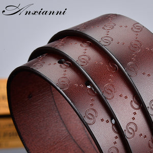 Hot sale G smooth buckle belt luxury belts Cowhide Genuine designer high quality fashion vintage male women strap