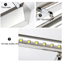 Fuying Modern Mirror Light 5W 9W Stainless Steel Bathroom Wall Lamp Sconce Light Waterproof LED Vanity Makeup Lighting JQ5530