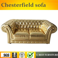 U-BEST Luxury  Vintage 2 seat Chesterfield Sofa For Hotel/Villa,European design comfortable living room furniture