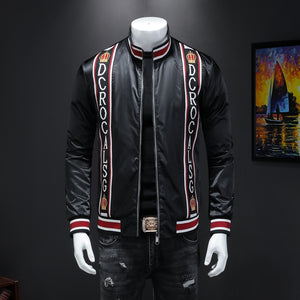 Male qiu dong's personality and fashionable leisure embroidery printing jacket men suit