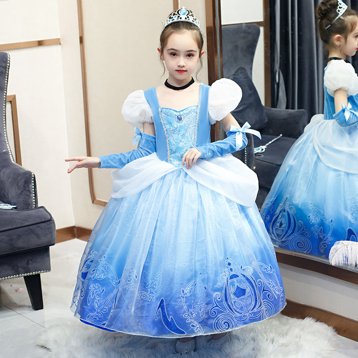 Princess Girl Dress Cinderella Girl Children Christmas Party Costume for Kids Girls Clothes Fantasy