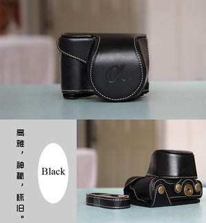 High quality Vintage PU leather Camera Bag Case Cover Pouch for Sony A5000 A5100 A6000 A6100 A6300 A6400 Nex6 Camera