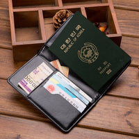 Travel Accessories Passport Holder Cover Vintage PU Leather Women Men RFID Business Credit Wallet Storage Case Organizer Card