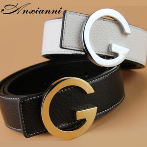 Luxury G Buckle Designer Brand High Quality  Belts Men High Quality Women Genuine Real Leather Genuine G Belt