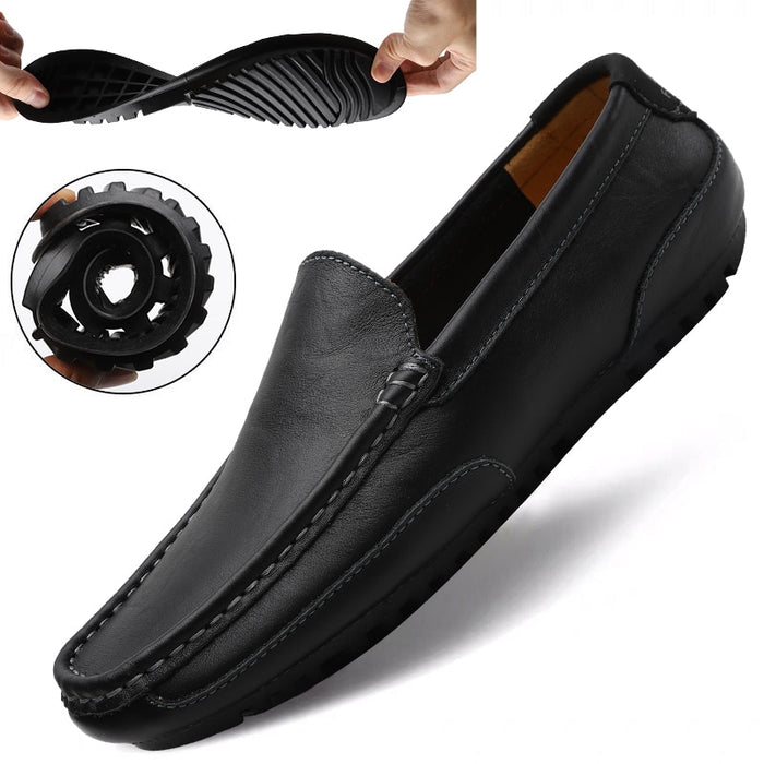 Genuine Leather Men Casual Shoes Brand 2020 Italian Men Loafers Moccasins Breathable Slip
