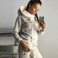 2019 Autumn Winter Women Sets Tracksuit For Women Long Sleeve Hoodie And Pants Two Piece Set Warm Outfits Running Suit