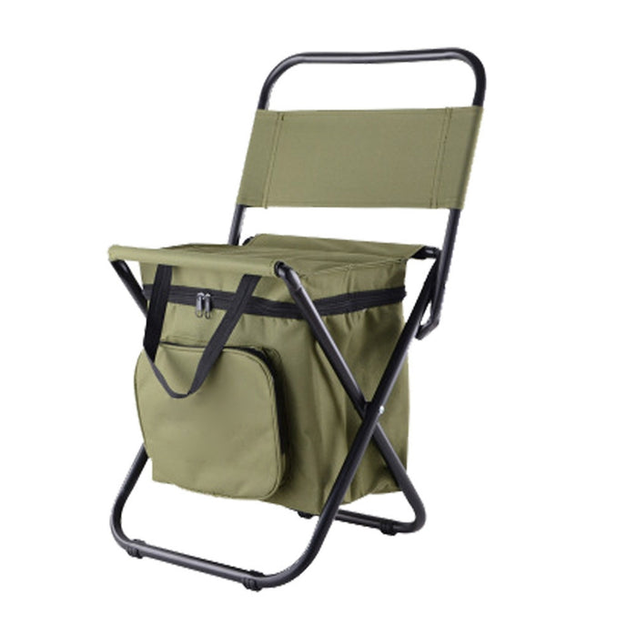 Multifunctional Outdoor Folding Stool Portable Ice Bag Stool with Insulation Bag Fishing Stool