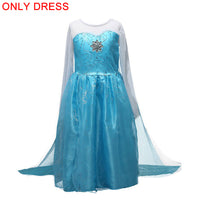 2020 Elsa dress Cosplay Princess Girls Dresses for Girls Snow Queen Anna Elsa Customes Kids Vestidos Party Dress Girls Clothing