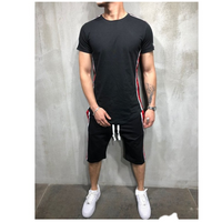 Tracksuit Men Summer Fashion Printed T Shirts Shorts Two Piece Men Track Suit Casual Sportsuit Male