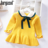 Little Girl Sweater Children Winter Clothes Thick Warm Fashion Dress Sweater for Baby Kids Underwear Clothing Sweaters