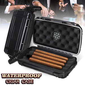 Waterproof 5 Cigar Humidor Cigarette Case Box/Tobacco Pipe Storage Box Dust-proof Shockproof Outdoor Travel Cigar Accessories