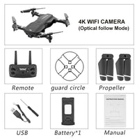 Camera 4K RC Drone Quadrocopter WiFi FPV RC Helicopter Headless Mode New Foldable