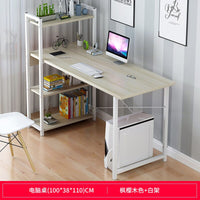 Simple desk, bookcase, computer desk, simple modern desk with bookshelf, desk, desk, household desk, student desk