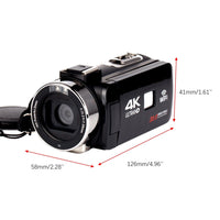 HDV4K HD digital camera night vision 30MP DV WIFI touch screen infrared fill light Camcorder Recorder