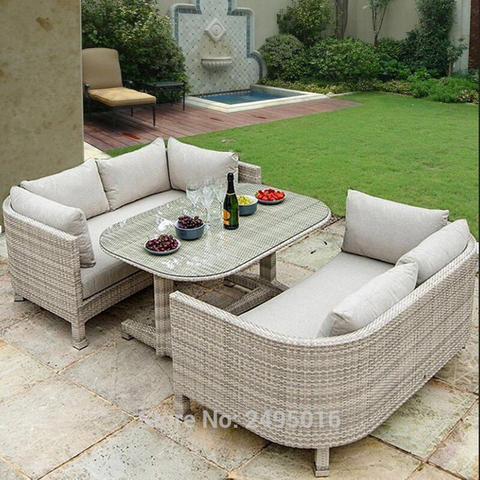 3 pcs Outdoor Patio Furniture dining set , metal Frame coversation set for balcony