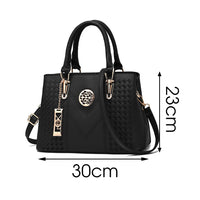 Embroidery Shoulder Bag Women Leather Shoulder Crossbody Bags 2020 New High Capacity Female Solid Color Handbags Casual Tote