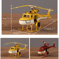 Helicopter Model Home Decoration Accessories Creative Handmade Wrought Iron Crafts Birthday Gift Home Living Room Desktop Decora