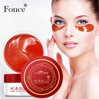 Fonce Snake Venom Essence Eye Mask 60 Piece For Faded Dark Circles Eye Bags Firming Wrinkles Eye Patches