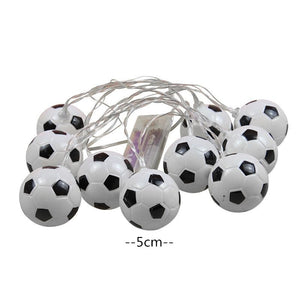 10 LEDs Football String Lights DIY Soccer accessories Atmosphere for Bar Club Party Decoration Fans Supplies World Cup