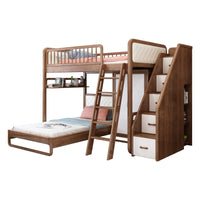 high quality home modern bedroom furniture bunk bed with wardrobe for kids