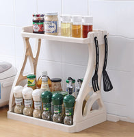 Kitchen Storage Rack Organizer Removable Bathroom Organizer Shelf Gap Holder Kitchen double rack spice rack Storage Holders new