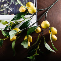 Single simulation lemon fruit lemon branch floral fake branches home indoor living room soft decorative ornaments accessories