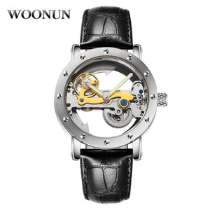 Men Tourbillon Watches Fashion Transparent Watches Men Automatic Mechanical Watches Men Skeleton Watches Relogio Masculino